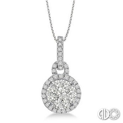 Ladies Lovebright Collection Pendant 94873FVPDWG