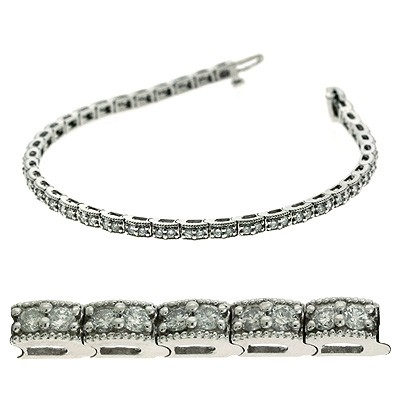 Ladies Diamond Bracelet B4019-2WG