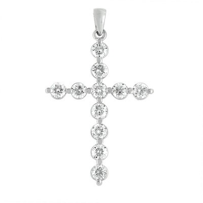 Ladies Diamond Cross Pendant P2678WG