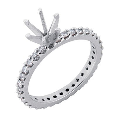Ladies Prong Set Engagement Ring EN3518-7PL
