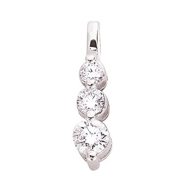 Ladies Three Stone Pendant P2710WG