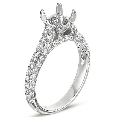 Ladies Pave Style Engagement Ring EN7184-15WG