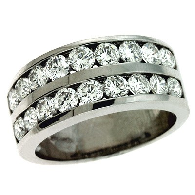 Ladies Channel Set Wedding Band D3112WG