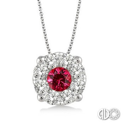 Ladies Lovebright Collection Pendant 58475FVPDRBWG