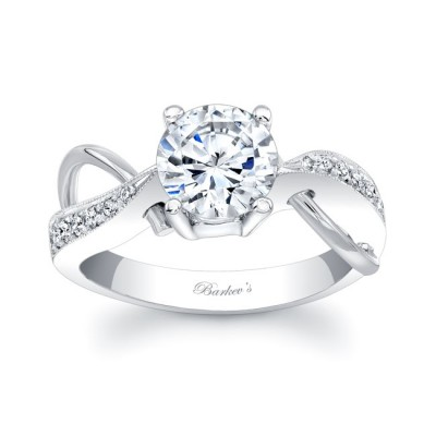 White Gold Engagement Ring 6818L