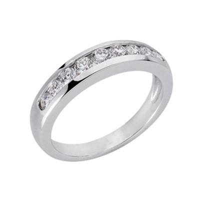 Ladies Channel Set Wedding Band D3085-PL