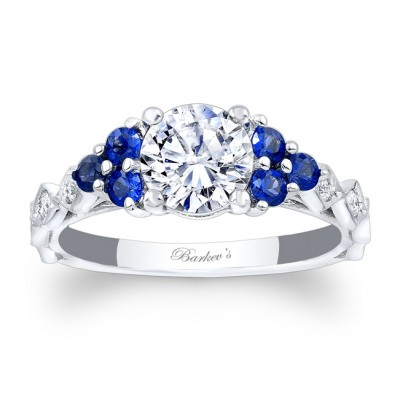 Blue Sapphire Engagement Ring 7975LBS