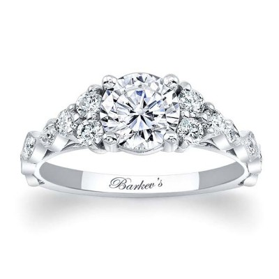 White Gold Engagement Ring 7975L