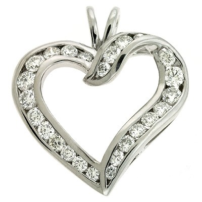 Ladies Heart Pendant P2110WG