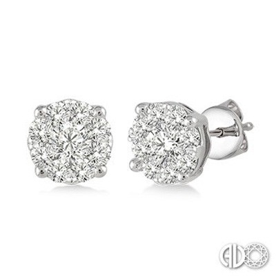 Ladies Lovebright Collection Earrings 91752FVERWG