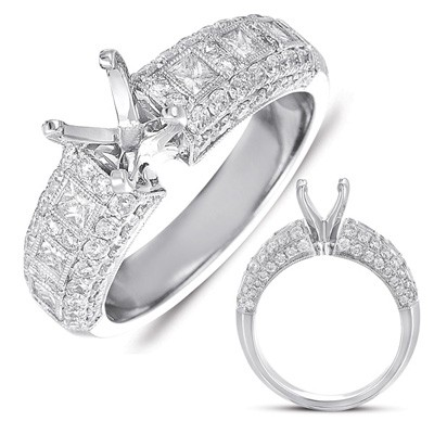 Ladies Pave Style Engagement Ring EN7329-PL