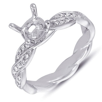 Ladies Pave Style Engagement Ring EN7213-PL