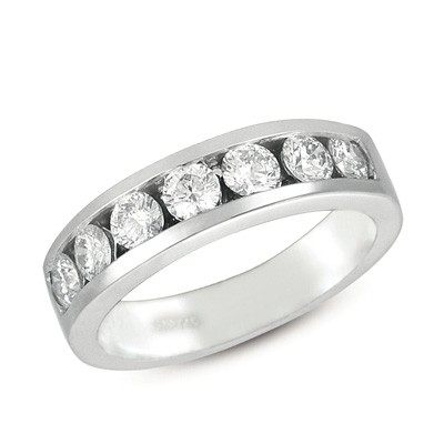 Ladies Channel Set Wedding Band D3129-PL