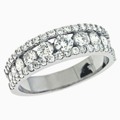 Ladies Prong Set Wedding Band EN7008-BWG