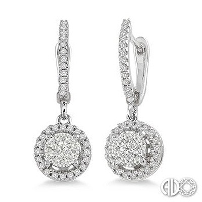Ladies Lovebright Collection Earrings 94873FVERWG