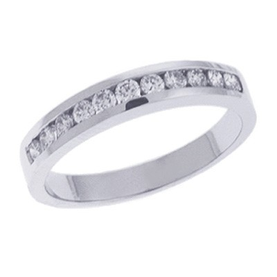 Ladies Channel Set Wedding Band D3031-PL