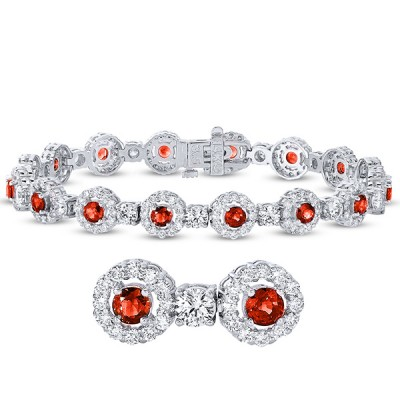 B4412-R3.5MWG White Gold Ruby & Diamond Bracelet