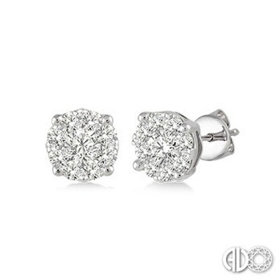Ladies Lovebright Collection Earrings 91755FVERWG