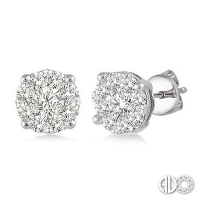 Ladies Lovebright Collection Earrings 91751FVERWG
