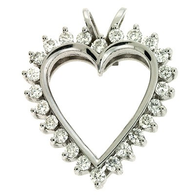 Ladies Heart Pendant P2103WG