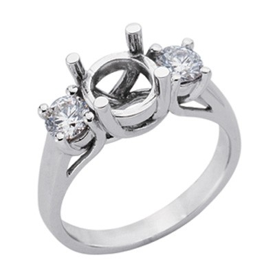Ladies Three Stone Engagement Ring EN6679-PL
