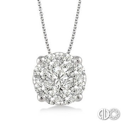 Ladies Lovebright Collection Pendant 91753FVPDWG