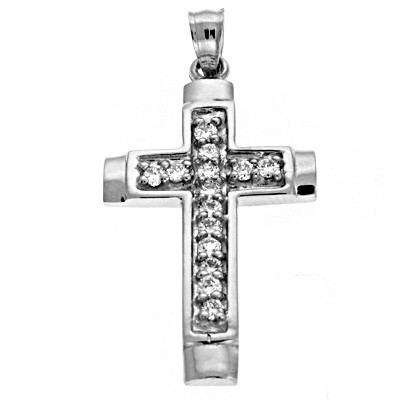 Ladies Diamond Cross Pendant P2194WG