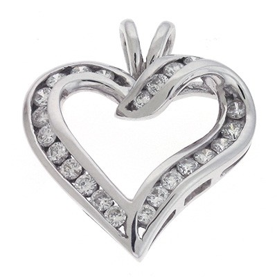 Ladies Heart Pendant P2031WG