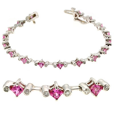 Ladies Gemstone Bracelet B4325-R