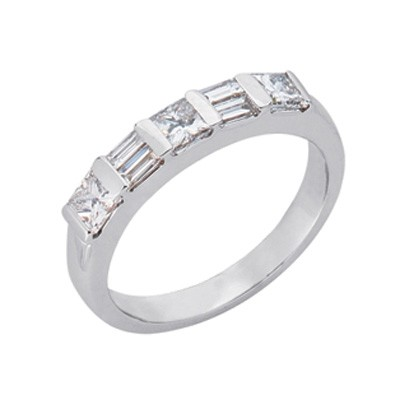 Ladies Channel Set Wedding Band D3265WG