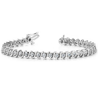 Ladies Diamond Bracelet B4000-6WG