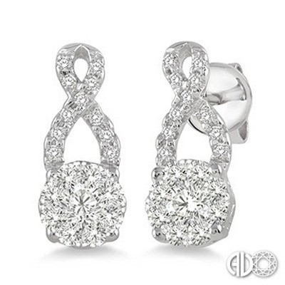 Ladies Lovebright Collection Earrings 94883FVERWG