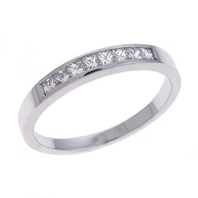 Ladies Channel Set Wedding Band D3105-PL