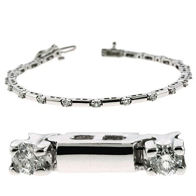 Ladies Diamond Bracelet B4020-1WG