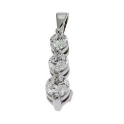 Ladies Three Stone Pendant P2654WG
