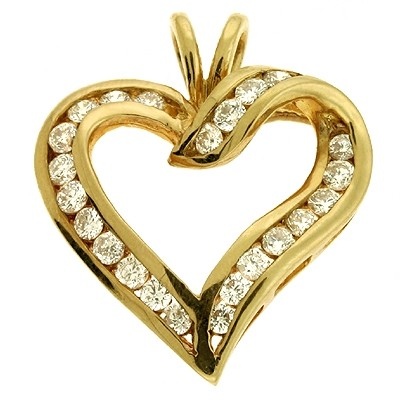 Ladies Heart Pendant P2031